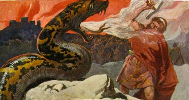 Thor and the Midgard Serpent.
