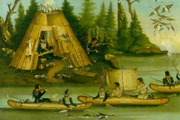 Mi'kmaq tribe painting. Anonymous 19th century. (The National Gallery of Canada/Public Domain)