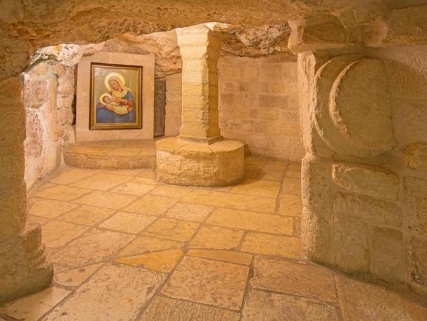 The Chapel of the Milk Grotto of Our Lady in Bethlehem takes its name from the belief that the Virgin Mary found refuge in a cave with the infant Jesus and a drop of her milk fell on the cave floor, turning it white. (Renáta Sedmáková / Adobe Stock)