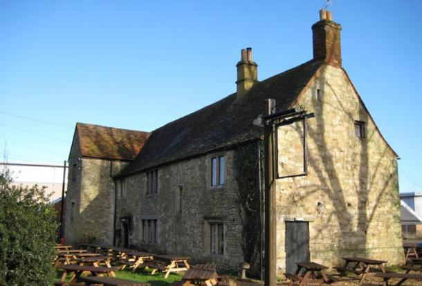 Today known by the name Minchery farmhouse, previously known as Sandford Priory, Littlemore, Oxford. It was the dormitory of the Benedictine nuns of the Priory of St. Nicholas.