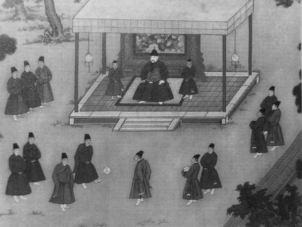 Ming Dynasty eunuchs around the emperor.