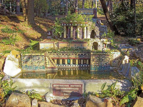 Miniature reconstruction of the Hanging Gardens of Babylon