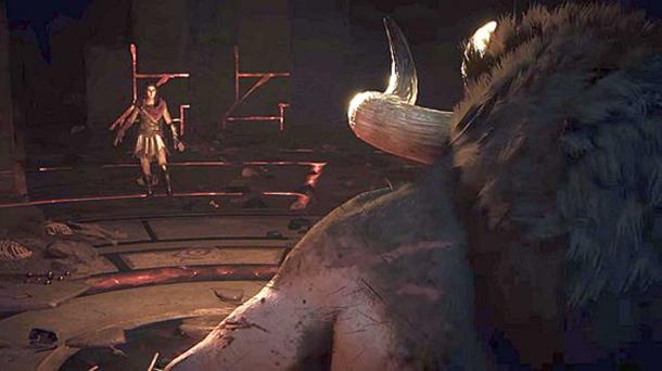 Does this screenshot mean you can fight a Minotaur in Assassin's Creed: Odyssey? (PC GamesN)