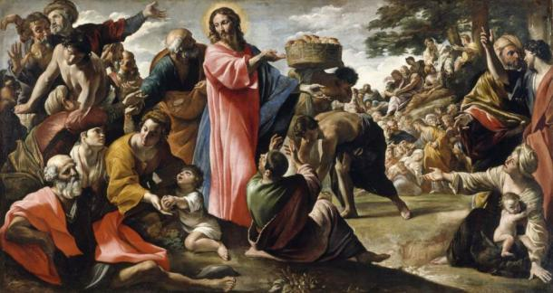 'Miracle of the Bread and Fish' by Giovanni Lanfranco. (Public Domain)