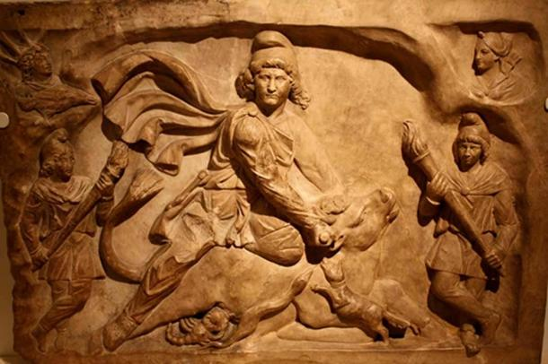 Mithra slaying the bull. Royal Ontario Museum.