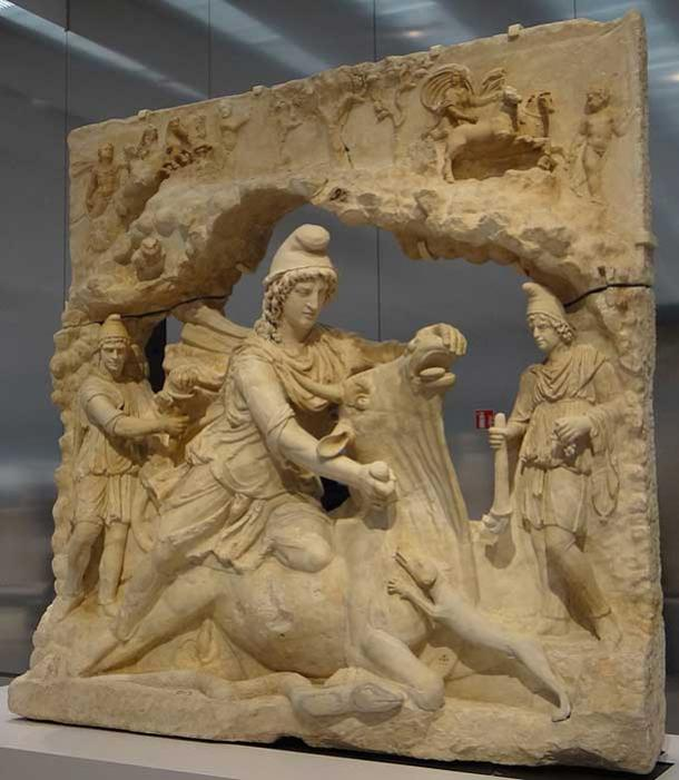 Mithras killing the bull.