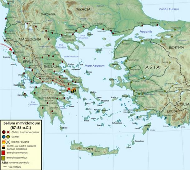 Mithridates VI of Pontus: The Poison King of Pontus and Aggravation on byzantine empire map, alexander the great map, ptolemaic kingdom map,