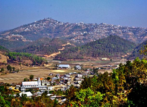 Mizoram landscape is mostly rolling hills with major valleys. Most villages and town are located on hill sides.