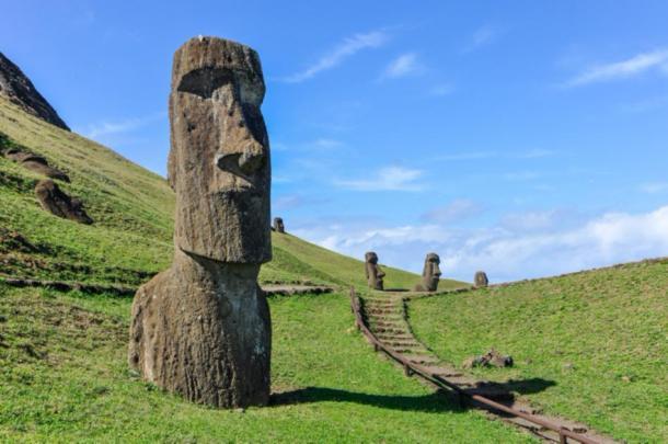 Moai statues in Rano Raraku, Easter Island. (kovgabor79 / Adobe Stock)