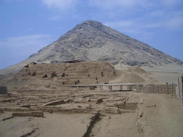 The ancient Moche site of Huaca de Luna, 'Temple of the Moon'