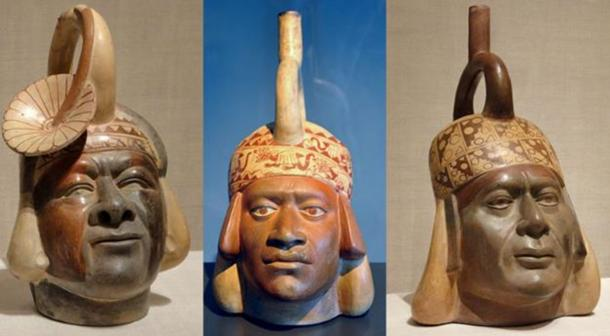 Mochica ceramics that may depict Africans.