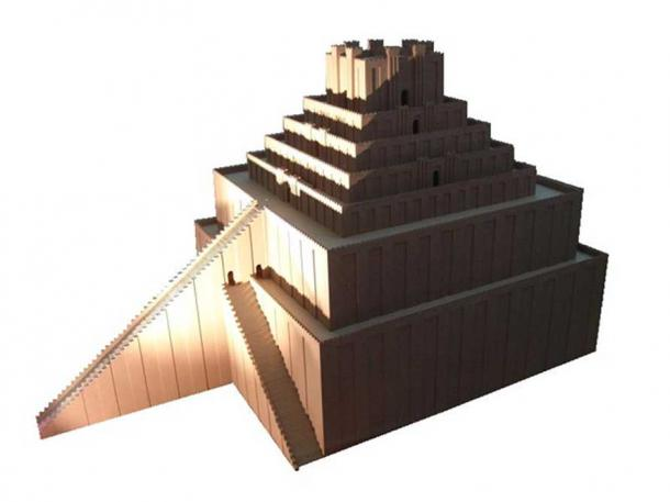 Model of Etemenanki. Pergamonmuseum (Berlin). (Public Domain) The top level contained a temple for a chosen woman to meet Marduk.