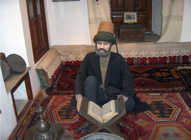 Model of a dervish studying. Mevlâna museum; Konya, Turkey.