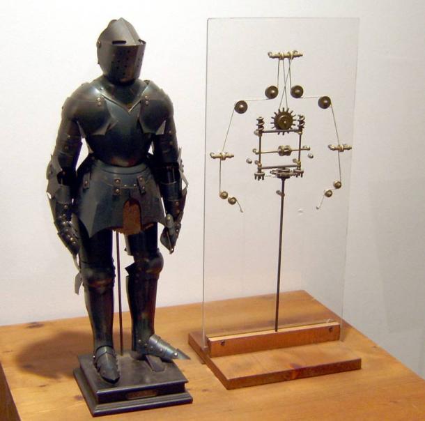 Model of a robot based on drawings by Leonardo da Vinci