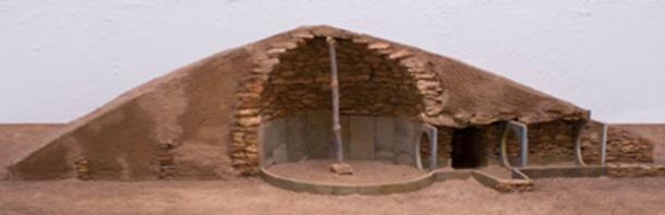 Model of one of the characteristic tombs of the prehistoric town of Los Millares, Iberia. (Tuor123 / CC BY-SA 3.0)