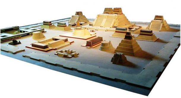 Model of the Aztec City of Tenochtitlan at the National Museum of Anthropology in Mexico City.