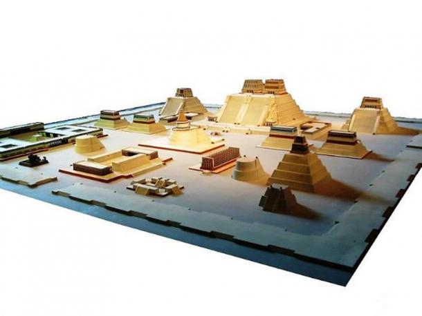 Model of the Aztec City of Tenochtitlan at the National Museum of Anthropology in Mexico City. (Public Domain)