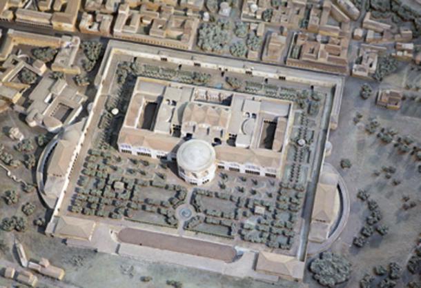 Model of the Baths of Caracalla, close up from the Plastico di Roma imperiale, in the Museo della Civiltà Romana. (Roger Ulrich / CC BY-SA 2.0)