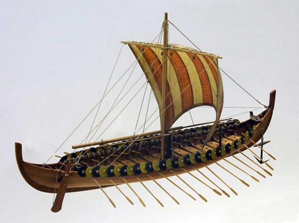 Model of the Gokstad Viking ship.