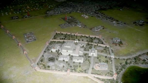 Model of the Khan Palace in Karakorum in the National Museum of Mongolian History in Ulan Bator.