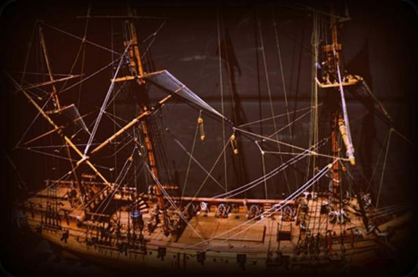 Model of the Whydah Galley (CC BY-SA 2.0)