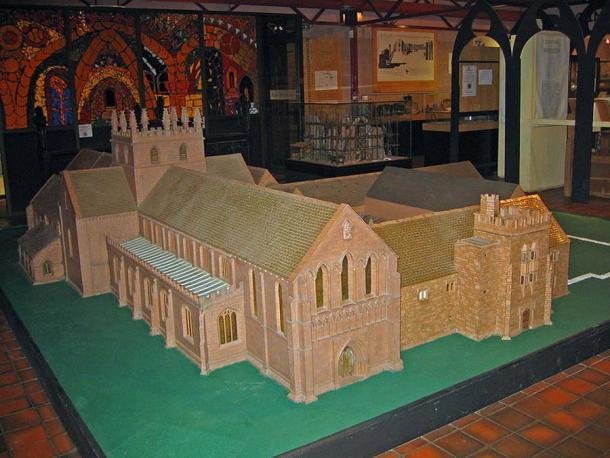Model of the abbey as it is thought it would have appeared in the 16th century. (Public Domain)