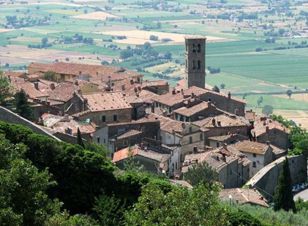 Modern Cortona, Tuscany, Italy.