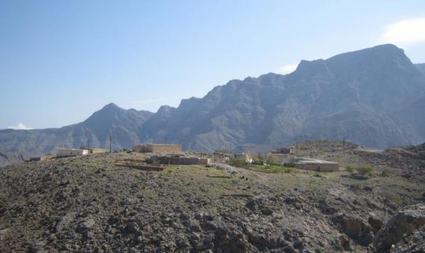 Modern Shihuh village in Musandam.