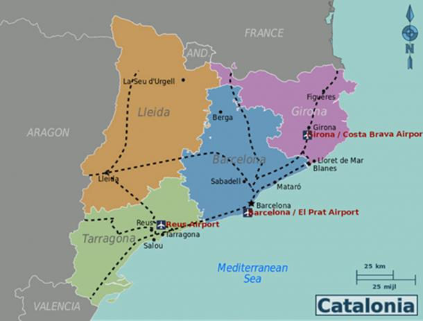 Map Of Spain Showing Catalonia.10 Historic Reasons Catalonia Is Fighting For Independence From