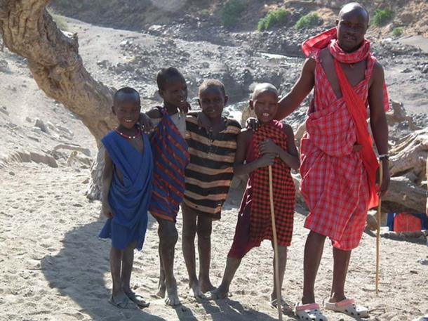 Modern day people from Tanzania, Africa