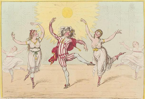 Modern grace, - or - the operatical finale to the ballet of Alonzo e Caro, by James Gillray.