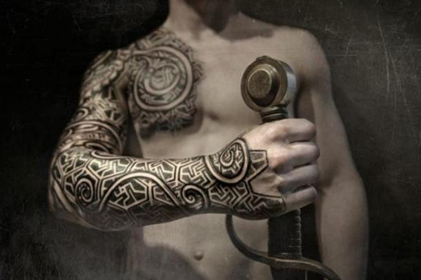 Modern interpretation of a Viking-style tattoo.
