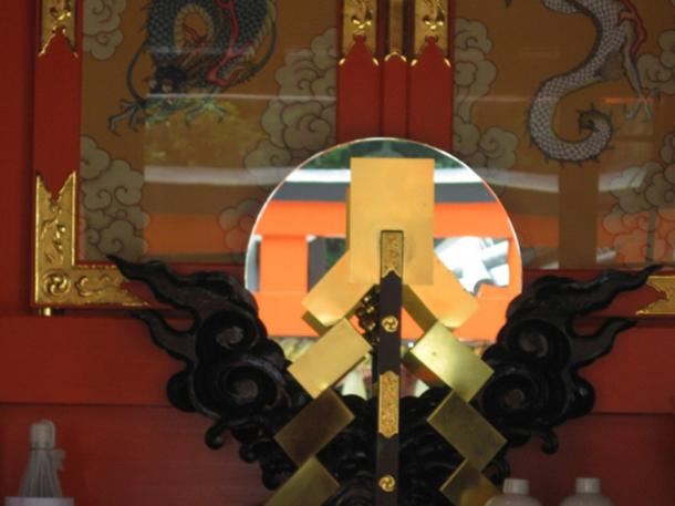 Modern mirrors used in shrines mimic the sacred bronze mirrors of old - but without the magic