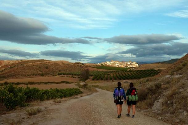 Modern pilgrims along the Camino de Santiago