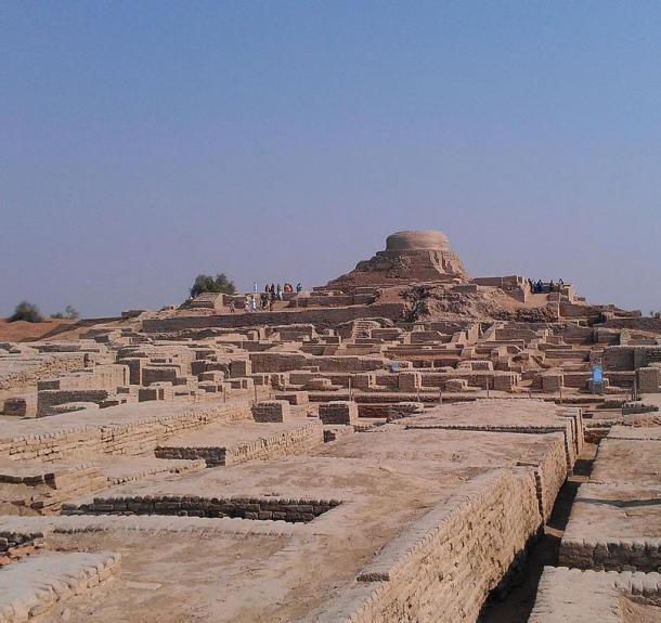 Una vista de las ruinas de Mohenjo-Daro