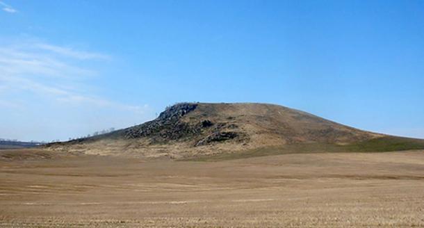The Mokhnataya mountains in the Altai Mountains.