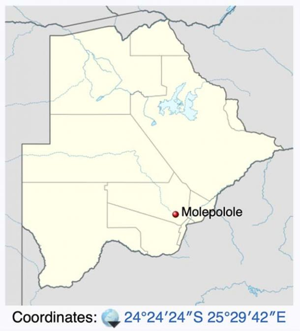 Molepolole is a village in Botswana, Africa and is the closest town to Kebokwe's Cave. (Ravenpuff / CC BY-SA 3.0)