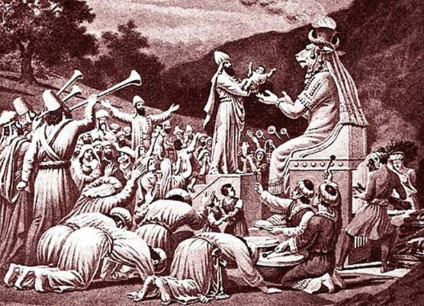 Moloch – followers sacrificed children to the idol. Source: Jonund / Public Domain.