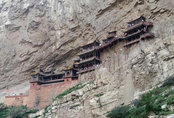 The Precariously Hanging Monastery of Mount Heng
