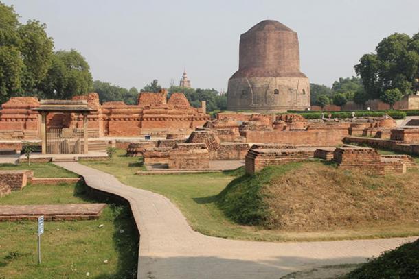 Monastery around Dhamek stupa, Sarnath.