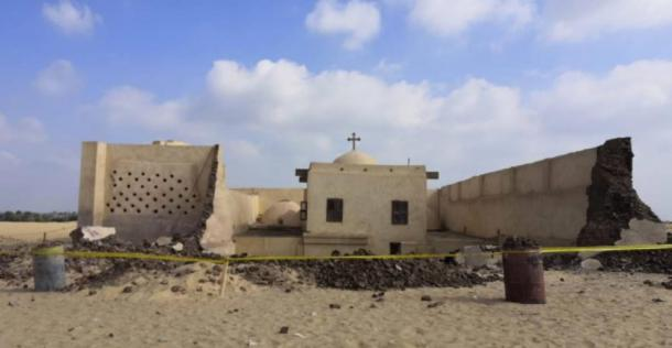 Three people lost their lives in the partial Saint Fana Monastery collapse. (Youssef Sidhom)