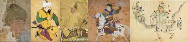 14th and 15th century paintings showing Mongol Warriors