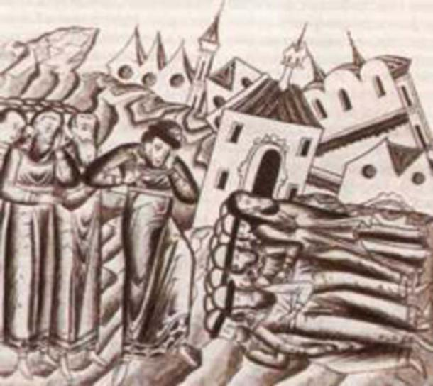 Mongol invasion: The massacre in the Russian City Suzdal. The Medieval annal. (Public Domain)