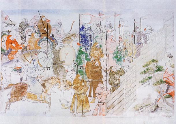 Mongol soldiers
