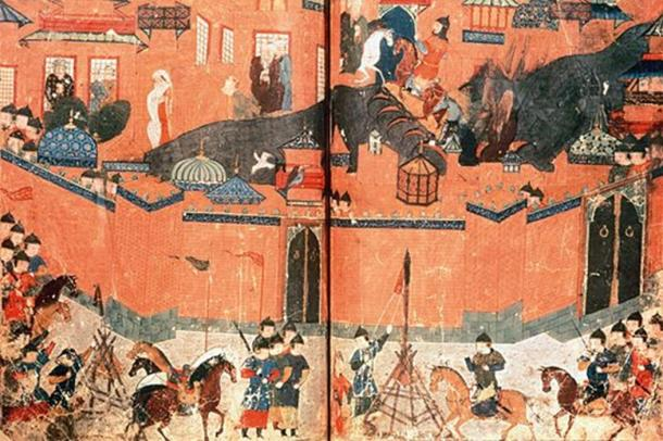 Mongols besieging Baghdad in 1258.
