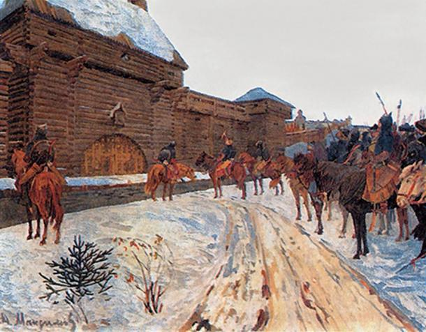Mongols under the walls of Vladimir.