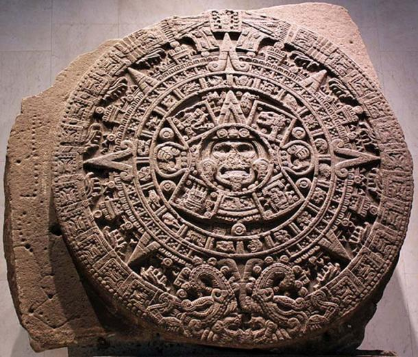 Monolith of the Stone of the Sun, also named Aztec calendar stone (National Museum of Anthropology and History, Mexico City). (Anagoria/CC BY 3.0)