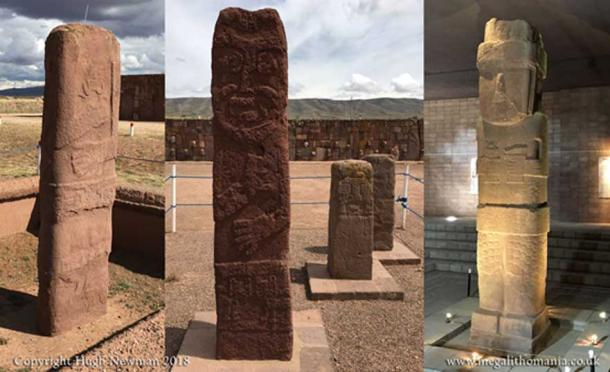 More Viracocha statues, including the 24ft(7.3m) Bennett Monolith on the right. (Author Provided)