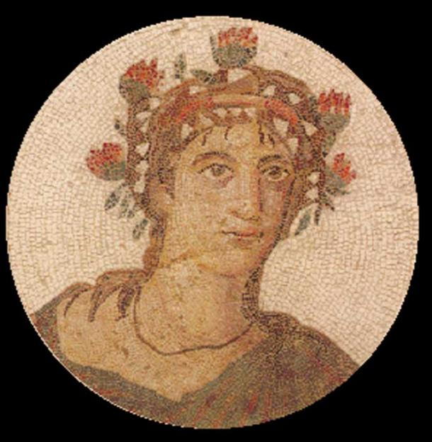 Mosaic depicting a man labeled as the gourmand Marcus Gavius Apicius.