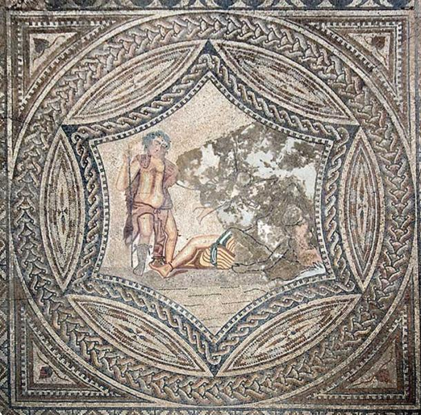 Mosaic of Bacchus and Ariadne from the House of the Knight. (Prioryman/CC BY SA 3.0)